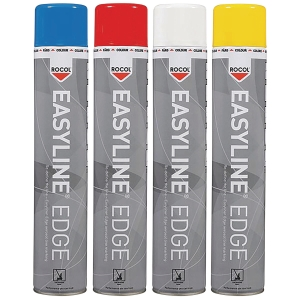 Rocol Easyline Edgeline Marking Paint 750ml Red Spray