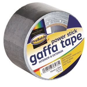 DUCT GAFFER CLOTHTAPE SILVER 75MM 50MTR ROLL