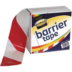 Roll Barrier Zebratape Red 70mm 500M White Non Adhesive