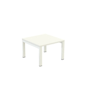 PAPERFLOW EASYDESK WHITE RECEPTION TABLE 600MM X 600MM