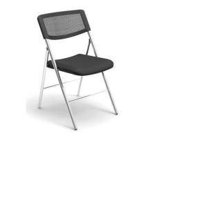 Alba Black Folding Mesh Chair - Pack of 2