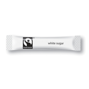 FAIRTRADE WHITE SUGAR STICKS 2.5G - BOX OF 1000