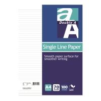 Double A 單行紙 A4 - 每包100張