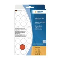 HERMA 顏色標籤圓形 #2252 19毫米 紅色 每包1280個標籤