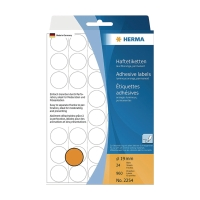 HERMA 顏色標籤圓形 #2254 19毫米 螢光橙色 每包960個標籤