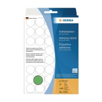 HERMA 顏色標籤圓形 #2255 19毫米 綠色 每包1280個標籤