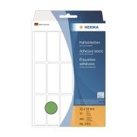 HERMA 顏色標籤長方形 2415 20x50毫米 綠色 每包480個標籤
