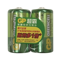GP 超霸碳性電池 C - 2粒裝