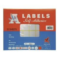 A LABELS #204 25 X 76毫米白色標籤 每包240個標籤