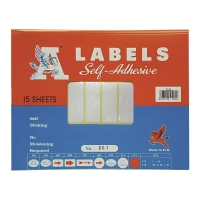 A LABELS #207 19 X 50毫米白色標籤 每包450個標籤
