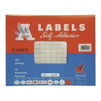 A LABELS #213 9 X 13毫米白色標籤 每包2940個標籤