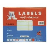 M LABELS 222 白色標籤 17 X 85毫米 每包240個標籤