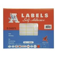 A LABELS #223 12 X 30毫米白色標籤 每包990個標籤