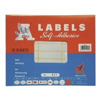 A LABELS #227 17 X 57毫米白色標籤 每包360個標籤