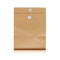 8 吋 x 11 吋 x 1.5吋 啡色風琴式公文袋有繩