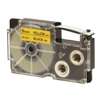 卡西歐 顏色標籤帶 XR-9YW1 9毫米 x 8米 黑色字黃色底