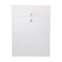 9 吋 x 12 吋 x 1.5吋 白色風琴式公文袋有繩