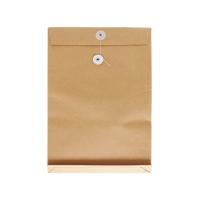 7吋 x 10 吋 x 1.5吋 啡色風琴式公文袋有繩