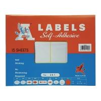 A LABELS #201 50 X 100毫米白色標籤 每包90個標籤