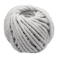 #403 4安士粗白色綿繩球 直徑: 4毫米