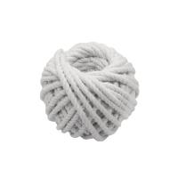 #203 2安士粗白色綿繩球 直徑: 4毫米