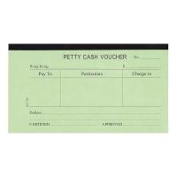 英文傳票 Petty Cash 105 X 190毫米,每本45張