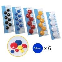 白板珠 藍色 直徑30 毫米 6粒裝