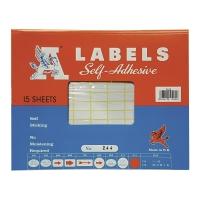 A LABELS #244 10 X 20毫米白色標籤 每包1680個標籤