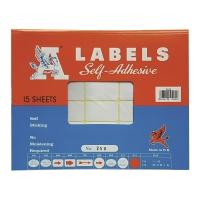 M LABELS 250 白色標籤 25 X 42毫米 每包360個標籤