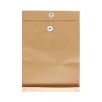 9 吋 x 13 吋 x 1.5吋 啡色風琴式公文袋有繩
