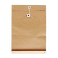 11 吋 x 15 吋 x 1.5吋 啡色風琴式公文袋有繩