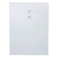 10 吋 x 14 吋 x 1.5吋 白色風琴式公文袋有繩