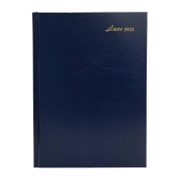 LUXE 41C DIARY 1D/P A4 BLU