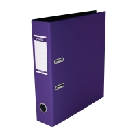 辦得事全包膠檔案夾 A4 3吋 淡紫色