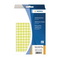HERMA 顏色標籤圓形 2217 8毫米 螢光黃色 每盒4224個標籤