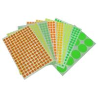 HERMA 顏色標籤圓形 2237 13毫米 螢光黃色 每盒1848個標籤