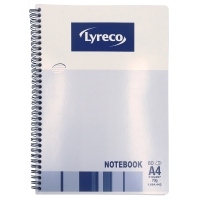 Lyreco A4 雙線圈筆記簿, 70克紙, 每本80張