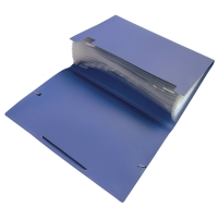 F4 風琴式文件袋 共12格 藍色