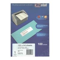Unistat 多用途標籤 U4428 210x297毫米 每張1個標籤