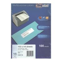 Unistat 多用途標籤 U4462 105x37毫米 每張16個標籤