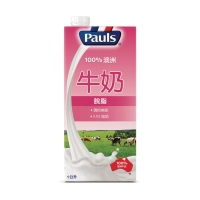 保利脫脂牛奶1公升