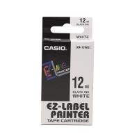 卡西歐 顏色標籤帶 XR-12WE1 12毫米 x 8米 黑色字白色底