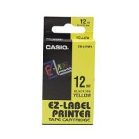 卡西歐 顏色標籤帶 XR-12YW1 12毫米 x 8米 黑色字黃色底