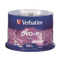 Verbatim DVD+R 4.7GB 可燒錄多功能影音光碟 筒裝50隻