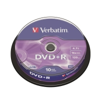 Verbatim DVD+R 4.7GB 可燒錄多功能影音光碟 筒裝10隻
