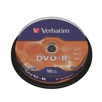 Verbatim DVD-R 4.7GB 可燒錄多功能影音光碟 筒裝10隻