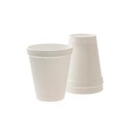 白色 熱飲海綿杯 - 25個裝