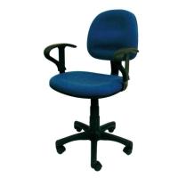 Sakura CG-888A 藍色中背油壓扶手轉椅