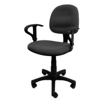 Sakura CG-888A 灰色中背油壓扶手轉椅