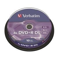 Verbatim 8X 8.5GB 單面雙層可燒錄光碟 - 筒裝10隻